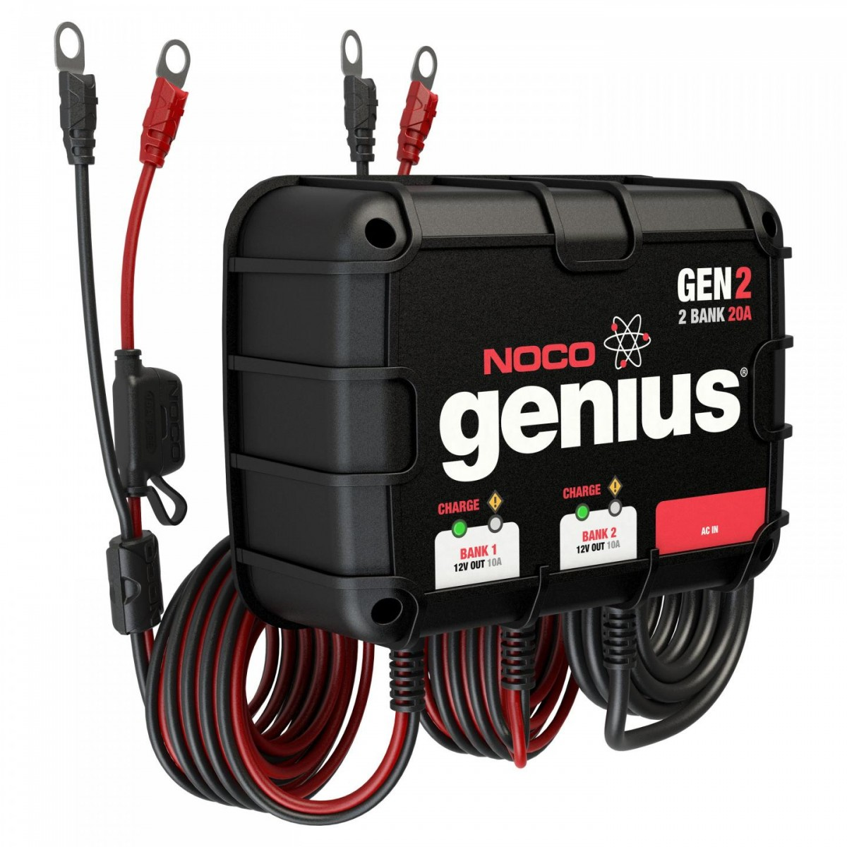 Noco 2 Bank 20a On Board Battery Charger Gen2