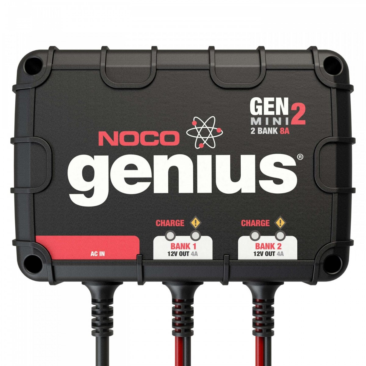 Noco 2 Bank 8a On Board Battery Charger Genm2 3 Prong Trolling Motor Plug Wiring Diagram