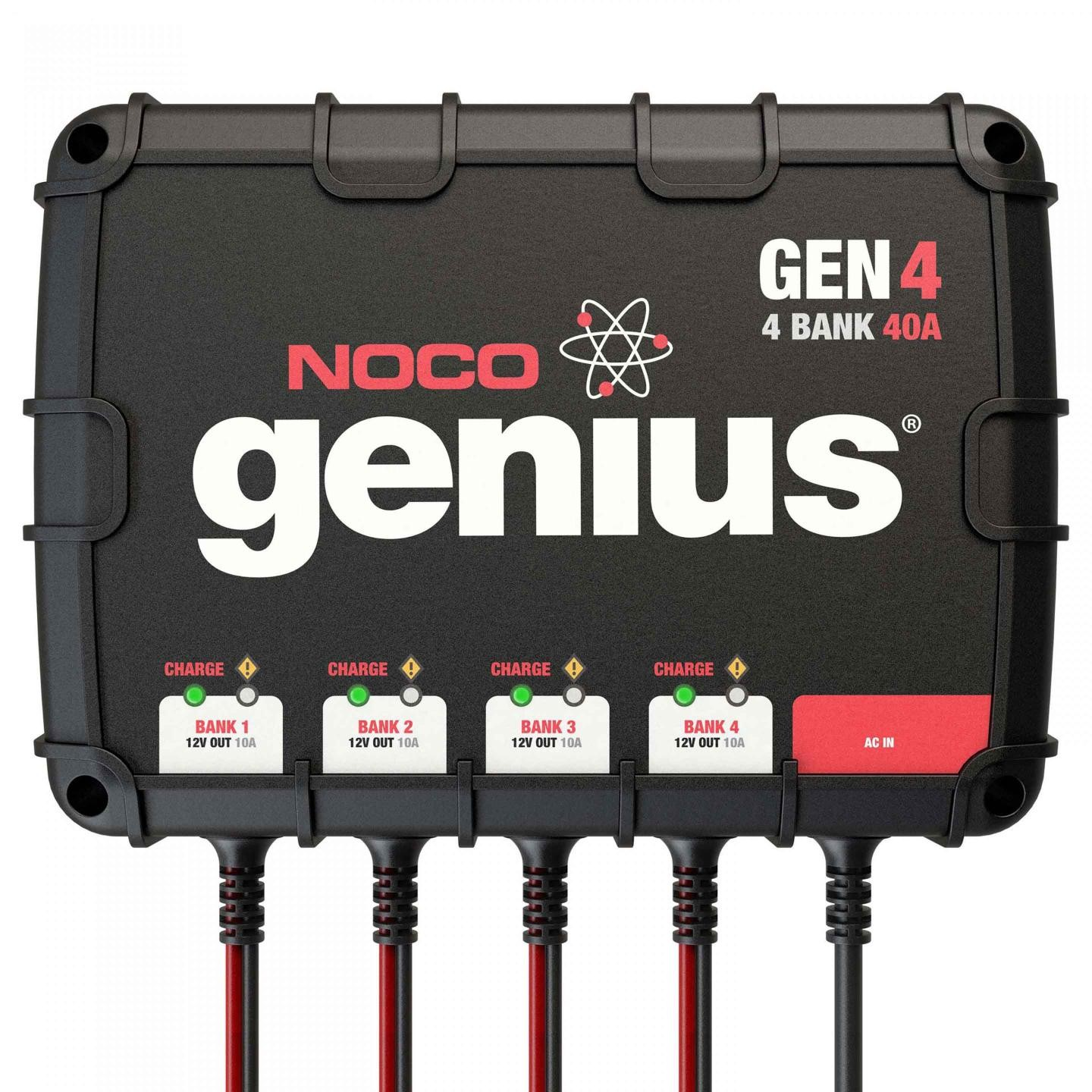 Noco 4 Bank 40a On Board Battery Charger Gen4 Solar Based Multipurpose Circuit