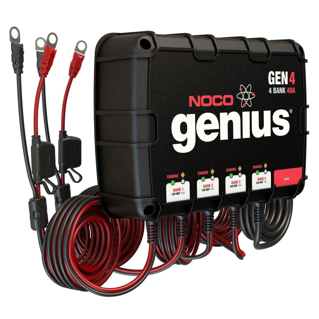 Noco 4 Bank 40a On Board Battery Charger Gen4 Marine Ac Wiring Prevnext