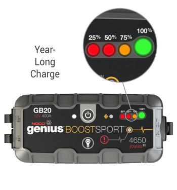 NOCO Genius Boost jump starter year long charge